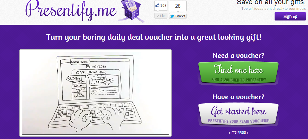 Presentify.Me – Turn your boring daily deal voucher into a great looking gift!
