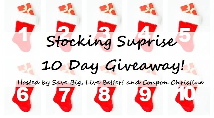 The Stocking Surprise 10 Day Giveaway from Coupon Christine and Save Big, Live Better