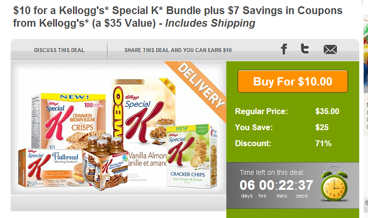 Kellogg's Offer on WagJag is now $10
