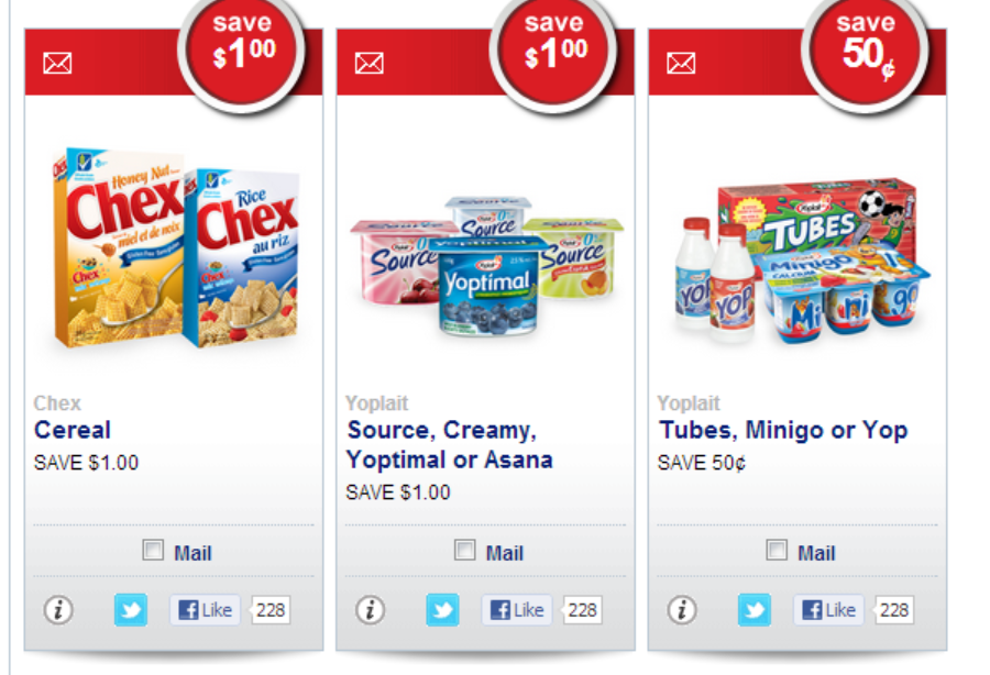 Have you requested your YOGURT & Chex Cereal Coupons?