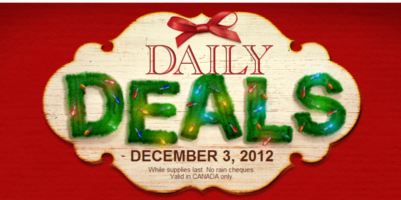 Michael's Deals: Valid in stores only TODAY (Dec. 3, 2012)
