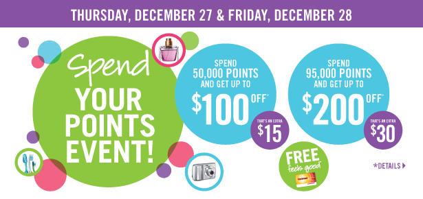 Spend your Points at Shoppers Drug Mart – BONUS Redmeption Dec. 27 and 28th