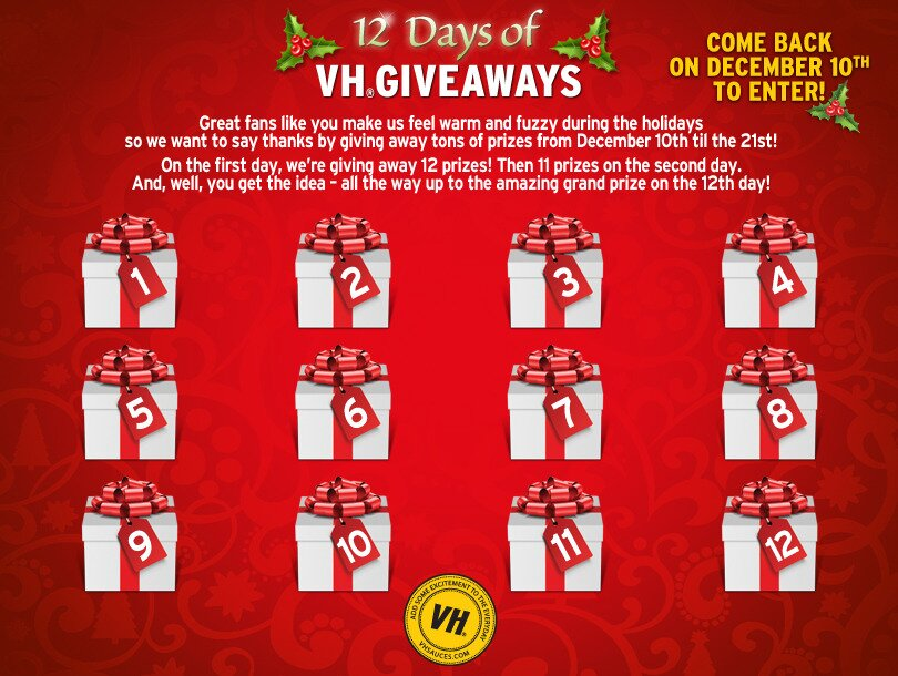 VH 12 Days of Giveaway