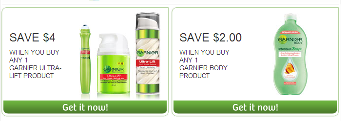 *NEW* Garnier Coupons on Websaver – $6 worth in savings