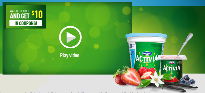 $10 in Danone Activia Coupons – watch a short video to get yours!