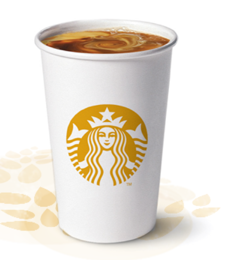 Buy 1 and get a FREE CUP of BLONDE ROAST COFFEE from Starbucks