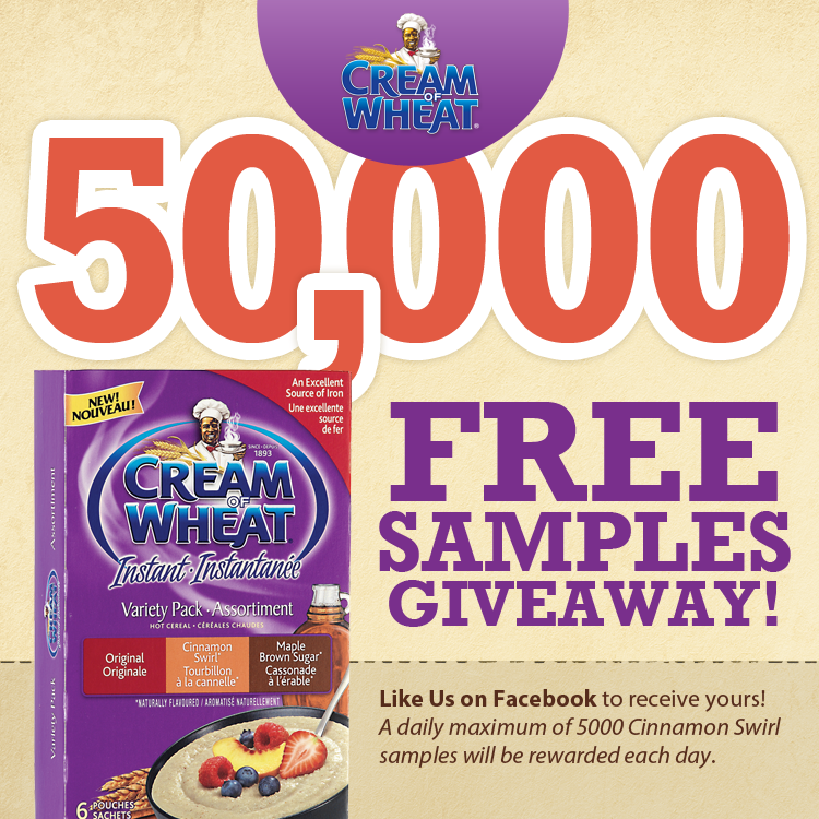 Cream of Wheat FREE Sample Giveaway