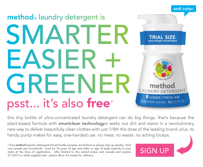 **FREE** Sample of Method Laundry Detergent