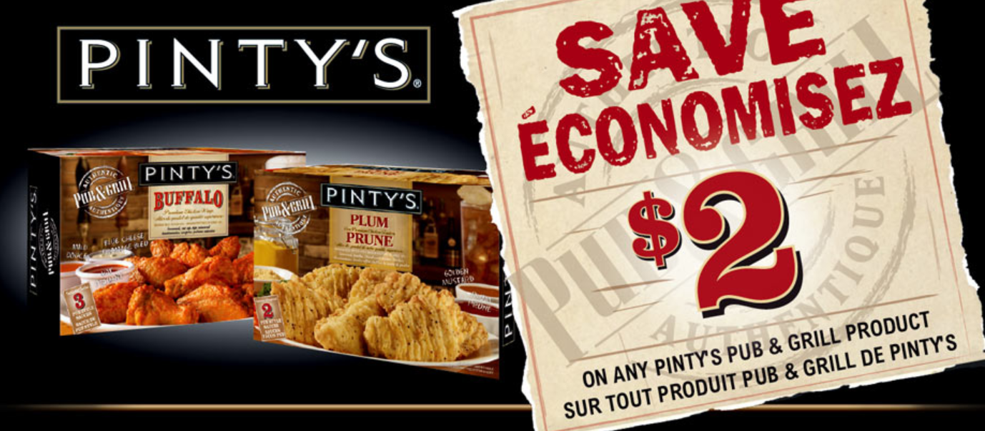$2 off PINTY's Coupon – Printable