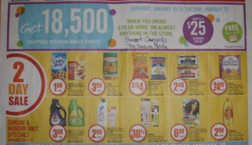 18,500 Points when you spend $75–Shopper's