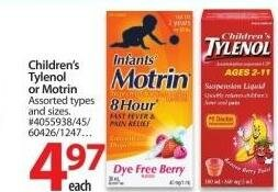 Children's Tylenol & Motrin Sale