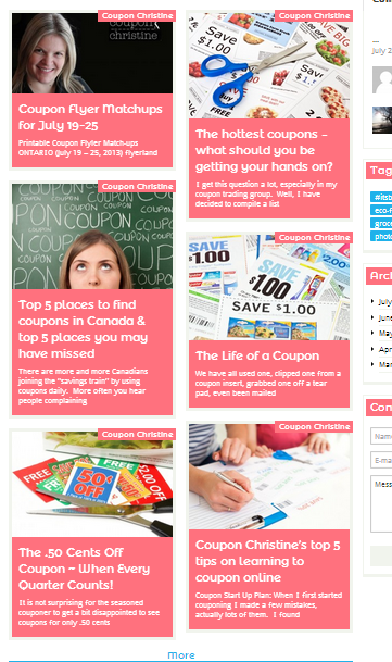*NEW* Save.ca Community Page: Coupon Christine Shares her Coupon Secrets