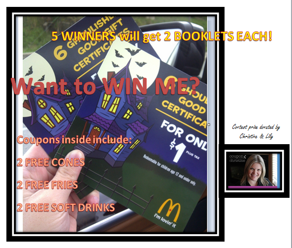 WINNERS ANNOUNCED ~ Want to win some FREE McDonalds FPCs – CLICK HERE to read more