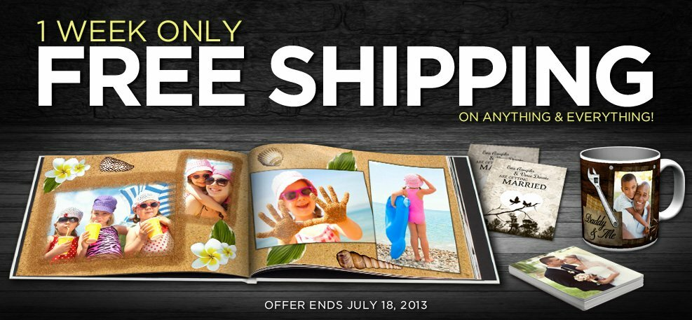 Kulapix is offering FREE SHIPPING (now and until July 18, 2013) *photobooks, mugs, cards and invites and MORE