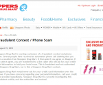 Shoppers Drug Mart is alerting us all to a PHONE SCAM ~ READ and SHARE