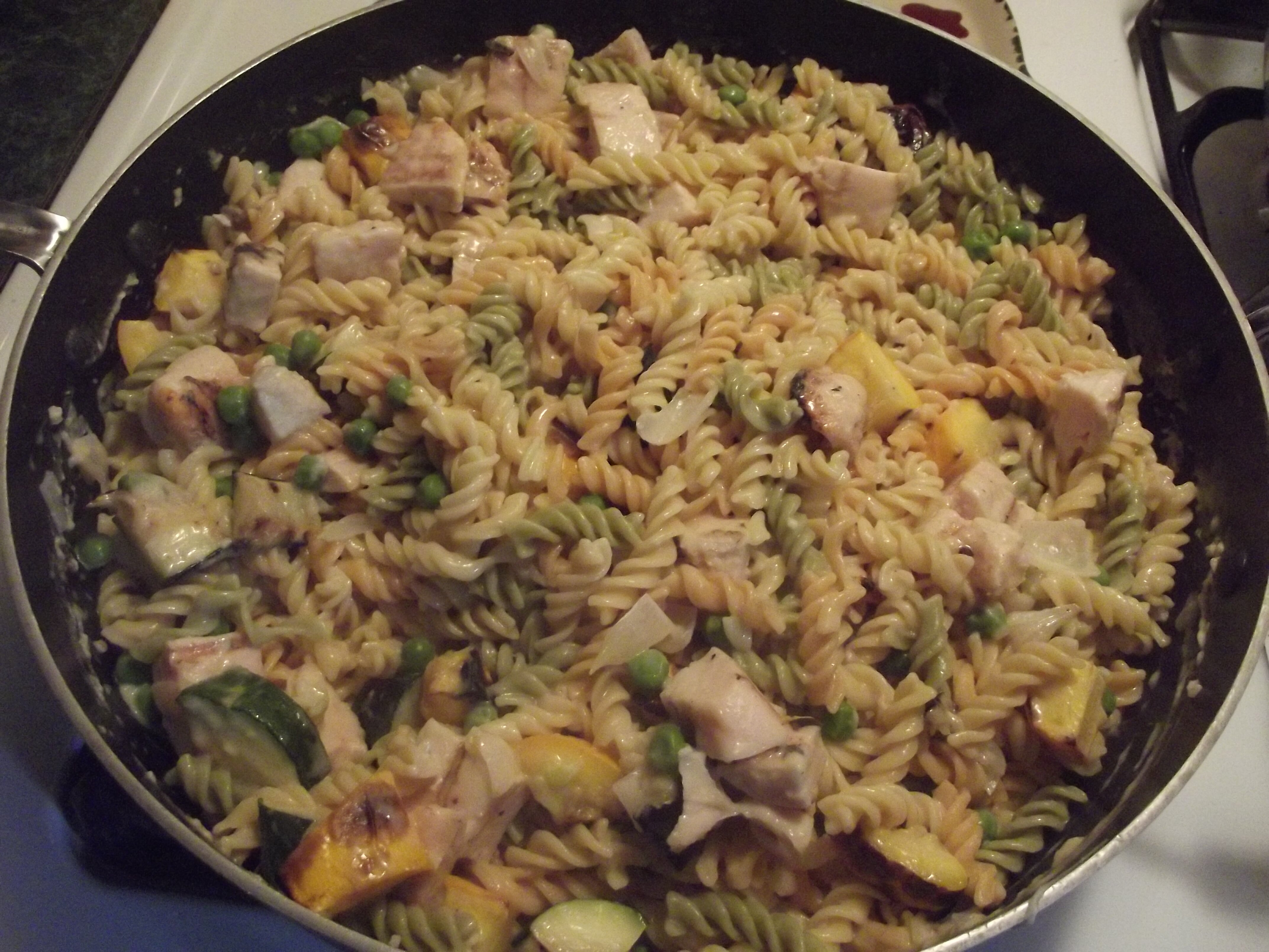 Budget Cooking with Sheila: Zucchini and Chicken Pasta for under $2.40 per person!