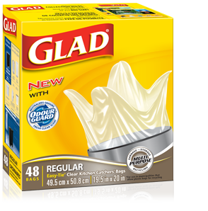 Glad Kitchen Catchers on sale at TARGET for $1.99 – FREE with $2 off COUPON