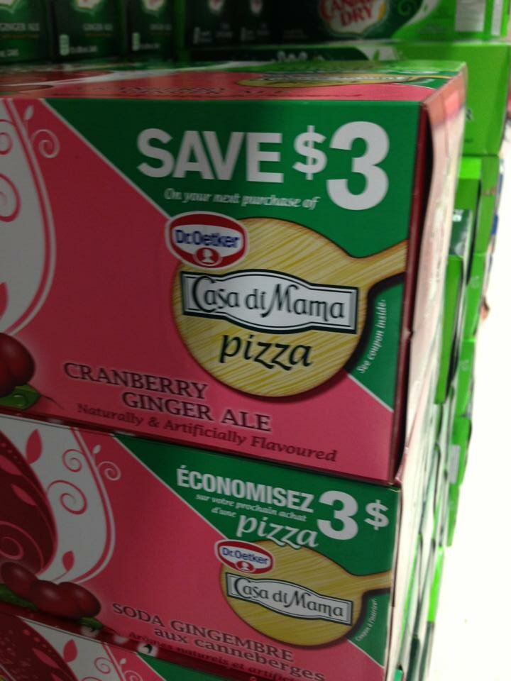 NEW $3 off DR. OETKER PIZZA Coupon on Canada Dry boxes and OTHER on packaging coupons – check it out!
