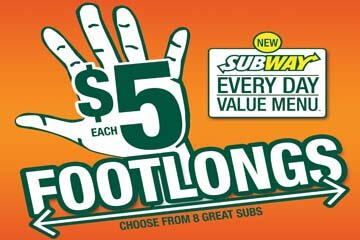 $5 SUBWAY Footlong to return to London and Southwestern Stores in the Fall!