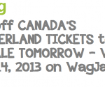WAGJAG to offer 50% off ADMISSION TICKETS to Canada's Wonderland starting tomorrow!