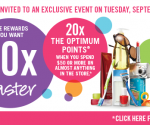 20x the Points Event at Shoppers Drug Mart (with coupon) – Tues. Sept. 3, 2013