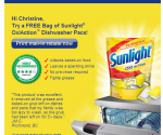 FREE Mail in Rebate for Sunlight Dish Detergent ~ Check your Shoppers Voice Email