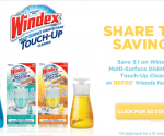 *NEW* Windex Touch UP Product … $1 or $2 coupon available
