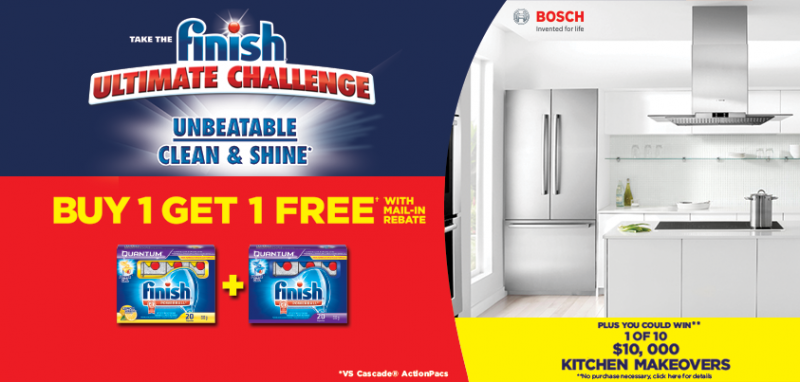 B1G1 FREE Dishwasher Finish Tab (mail in rebate form)
