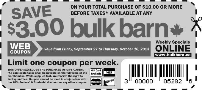 New Printable for Bulk Barn!