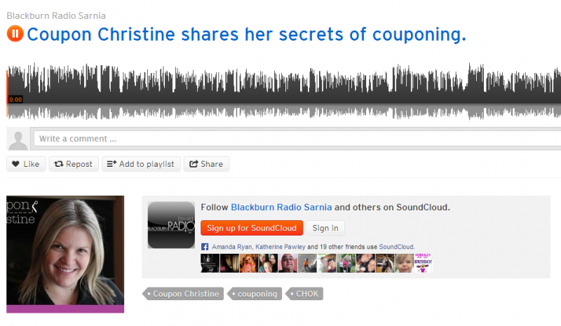 Coupon Christine on CHOK Radio ~ Sarnia : Let's Talk Couponing!
