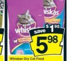 CHEAP WHISKAS CAT FOOD! No Frills Deal this week! Under $4 a bag!
