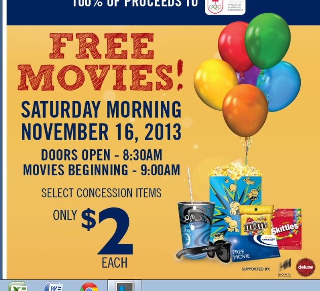 FREE MOVIE at Cineplex Odeon – Nov 16 – Community Day