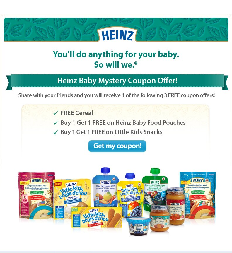 Heinz Canada Mystery Coupon