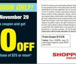 Shopper's Drug Mart Black Friday Coupon