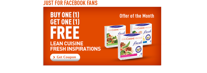 Lean Cuisine Buy 1 Get 1 Free COUPON!