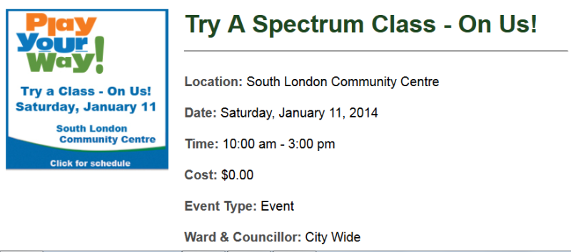 """Try a Class on Us"": FREE London Spectrum Class – this weekend"