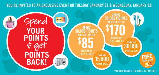 SDM Points Event! Spend your points…and get points back!