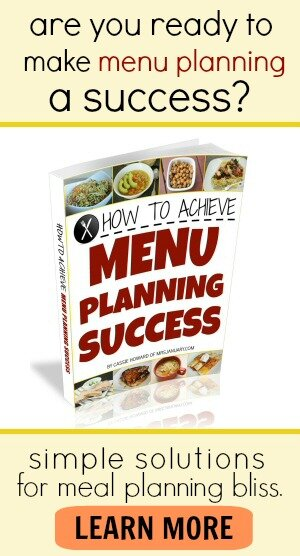 Menu Planning E-Book: Learn how to save money and meal plan