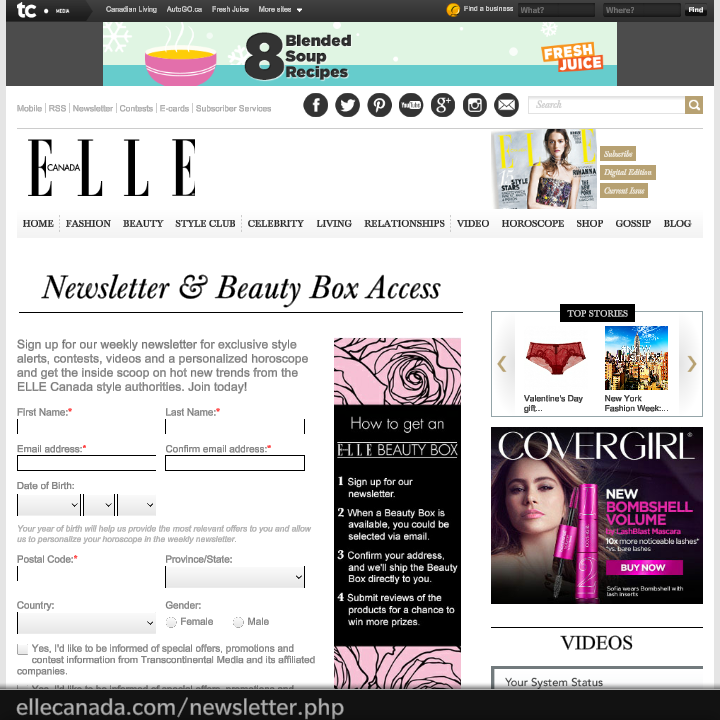 2014 ELLE BOX Registration OPEN! Sign UP!!