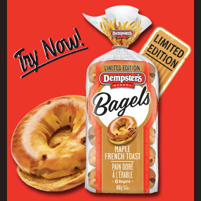 New $1 off Dempsters Maple Bagels!