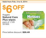$6 off Costco Huggies Coupon!