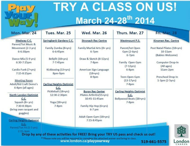 TRY US FOR FREE: Spectrum London – FREE CLASSES March 24 – 28, 2014