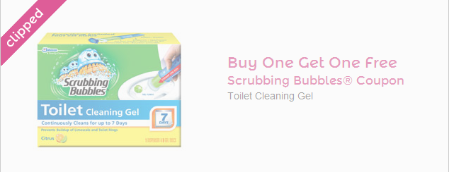 **NEW** Buy 1 get 1 FREE Scrubbing Bubbles coupon
