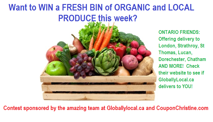 ENTER TO WIN a PRODUCE BIN this week Southwestern Ontario from Globally Local