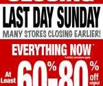 **All Target stores CLOSING SUNDAY APRIL 12th***