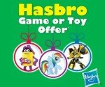 Free HASBRO toy or game offer!